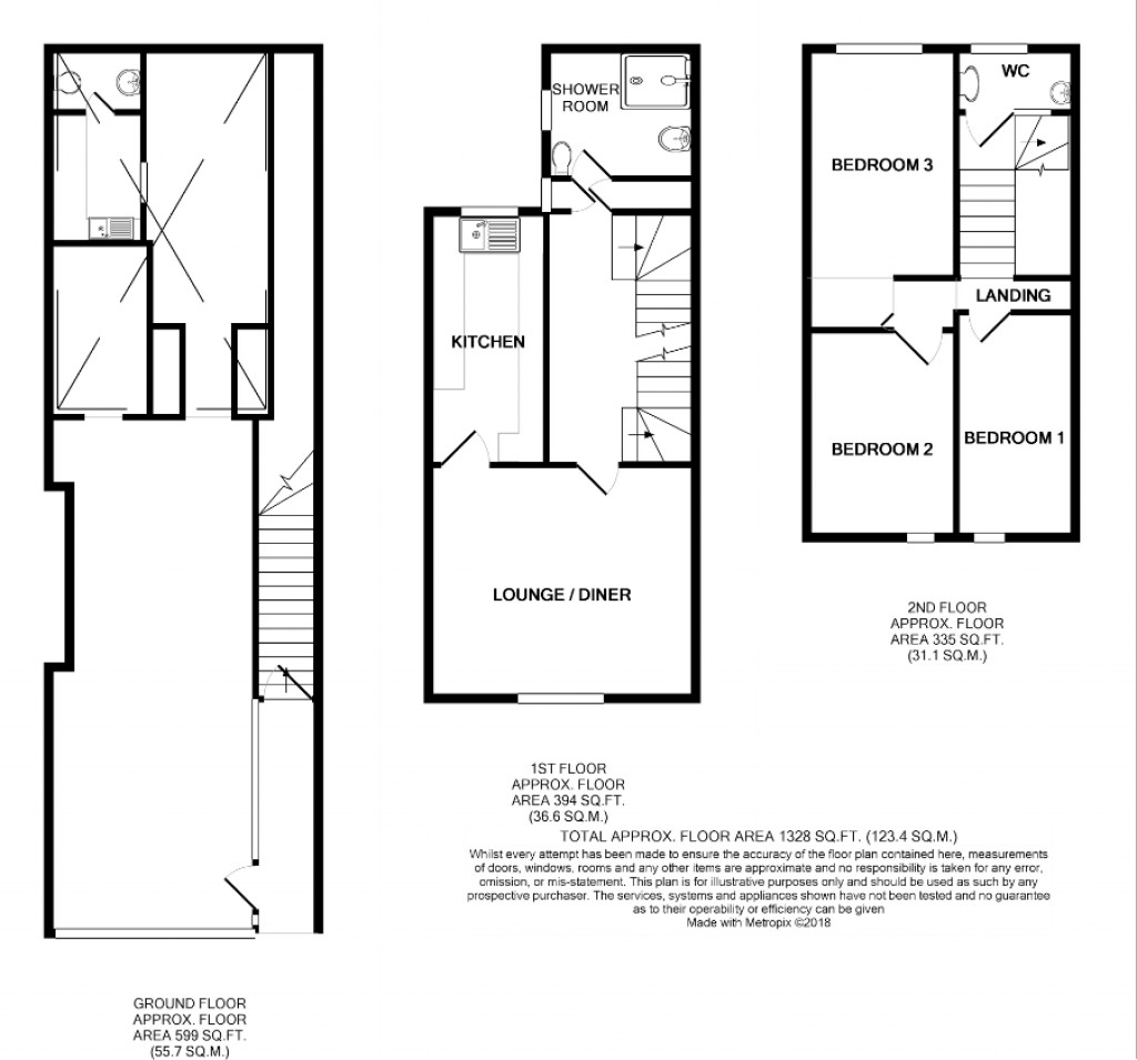 Floorplans For Longbrook Street, City Centre Investment Opportunity, Exeter